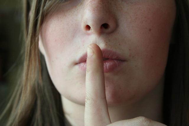 Shh Finger